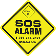 logo of SOS Alarm commercial security systems